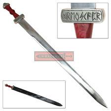 Viking Honor Dueling Sword Stainless Steel Blade Hardwood Grip Drengskapr Runes