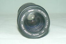 Objectif VIVITAR 70 210 mm 1:4,5-5,6 MC MACRO FOCUSING ZOOM 52 mm LENS JAPAN