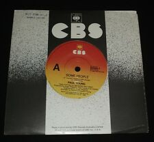 PAUL YOUNG AUSSIE 45 - SOME PEOPLE 1980s POP   MINT