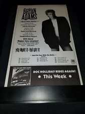 Bryan Adams You Want It You Got It Rare Original Radio Promo Poster Ad Framed!