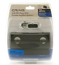 Craig CMA3500E 2GB MP3 Player Portable Speakers Amplified Stereo USB/Battery New