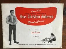 1953 Sheet Music HANS CHRISTIAN ANDERSEN Danny Kaye Loesser Song Book