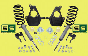 """4""""/4"""" DROP SPINDLES STRUTS RR COILS EXTENDERS AIRRODS FITS 07-14 Chevy GMC SUV"""
