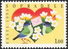 Estonia 1993 Cuore/LOVE/Birds/Lettera/Amicizia/Cartoni Animati/Animazione 1 V (ee1080)