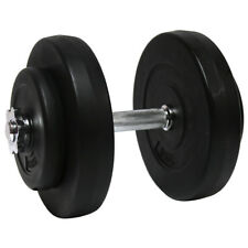 Charles Bentley 15kg Cement Dumbbell & Weights Training Exercise Spinlock Gym