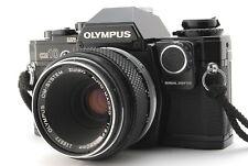 [MINT]Olympus OM10 Black 35mm Film Camea w/Manual Adapter + 50mm Macro Lens