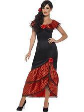 Flamenco Senorita Costume, Large, Spanish Salsa Fancy Dress, Womens UK 16-18