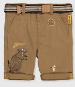 2-3 Years Boys Gruffalo Belted Chino Shorts New TU Clothing