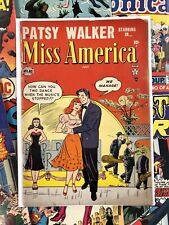 Miss America #79 VG+ 4.5 atlas comics 10c golden age comics USA ROMANCE 1956