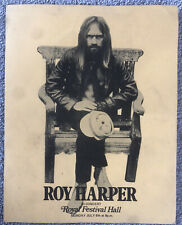 RARE!  ROY HARPER UK TOUR BROCHURE - Royal Festival Hall 6th July 1970 - British