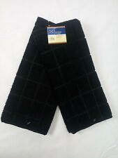 Kitchen Dish Hand Towels Windowpane Brand New Solid Black Color- Set of 2!
