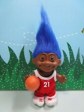 "BLACK/AFRICAN AMERICAN BASKETBALL PLAYER - 5"" Russ Troll Doll - NEW IN BAG -Rare"