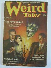 WEIRD TALES January 1939 VG-  Clark Ashton Smith Virgil Finlay cover