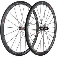 1 Pair Of 38mm Clincher Carbon Wheels Road Bike DT240S UD Matte Carbon Wheelset