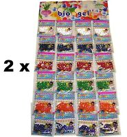 48 Bags Water Beads Aqua Gems Bio Gel Balls Jelly Crystal Soil Wedding Vase Deco