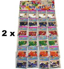 48 Bags Water Beads Aqua Gems Bio Gel Balls Jelly Crystal Soil Wedding Vase Deco