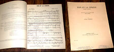 Pan et la Syrinx d'après Laforgue partition piano chant 1955 Jacques Chailley