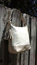 COACH Legacy 23410 Zebra Print Canvas & Leather Duffle Bag Crossbody Handbag