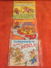Lot 3 Vintage BERENSTAIN BEARS Mini Books Rapid Soccer Rescue 1984 NEW Free Ship