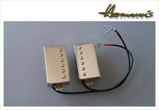 Vintage 60s Alnico V Humbucker Pick Up Set, Handgewickelt, Chrom Covered