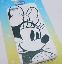 Apple iPhone 5 5S SE - SOFT SILICONE RUBBER SKIN CASE Disney Black White Minnie