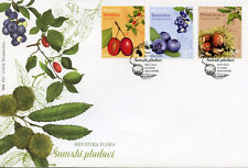 Croatia 2018 FDC Flora Bilberry Chestnut 3v Cover Berries Plants Nature Stamps