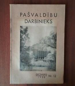 Rare Antique magazine ''Municipaly Employee'' 1938.Latvia. Riga.