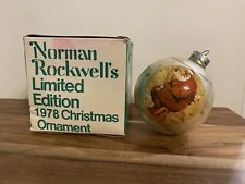 Norman Rockwell's Limited Edition 1978 Christmas Ornament With Original Box