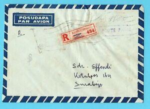 INDONESIA R cover 1966 Bandung postage paid to Surabaja