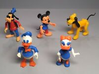 STECKIS: Satz Disney (Goofy, Micky Maus, Pluto, Donald u. Daisy Duck) 1981