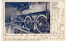 LOCOMOTIVE LABORATORY Purdue University INDIANA - 1907 POSTCARD Lafayette