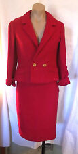 50s 60s Berry Nubby Suit by Franklin Simon / Elite Jrs