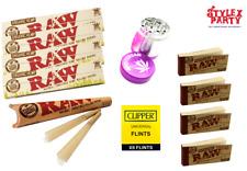 Raw Rolling Paper Smoking Set Grinder Pink Raw Tips Raw Cones Clipper Flints Set