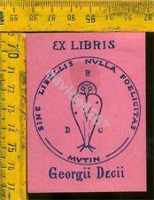 Ex Libris Originale Di Giorgio Dieci a 390