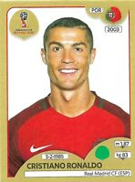 PANINI WORLD CUP 2018 CRISTIANO RONALDO GOLD SWISS STICKER NO 130