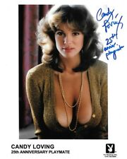 CANDY LOVING SIGNED 8X10 AUTOGRAPHED PHOTO 25th ANNIVERSARY PLAYBOY PLAYMATE RP