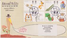 Mousehole GB Royal mail FDC COVER 2006 Animale TALES Set Adesivo Indirizzo