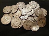 Walking Liberty Coin Lot  - 5 Coins - 90% Silver Half Dollar Coins