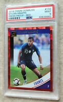 2018 PSA 9 ROOKIE Kylian Mbappe Donruss Press Proof Red #132 $GREAT INVESTMENT$