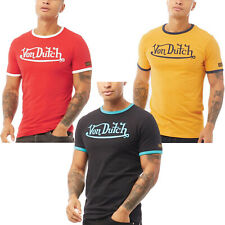 Von Dutch Mens Isotope Casual Cotton Large Logo Crew Neck T-Shirt Top Tee