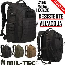 Zaino Incursore Militare Nero HEXTAC® by Miltec impermeabile molle Mil-tec NEW