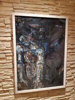 Elisabeth Bieneck-Roos Mannheim Gemälde Öl Ölgemälde ca.100x73cm Siegniert Maler
