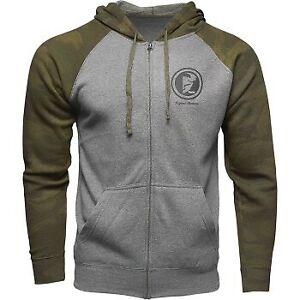 Thor Target Zip-Up Hoody Gray/Green Camo- Zipper Hoodie - Men's Sizes
