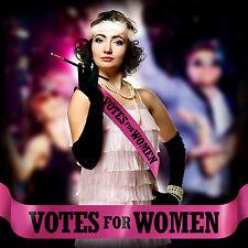 VOTES FOR WOMEN SASH FANCY DRESS COSTUME SUFFRAGETTE EMMELINE &P P