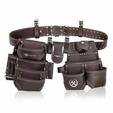 LAUTUS Oiled Tanned Rig Tool Belt/Pouch/Bag, Carpenter, Construction, Framers, H