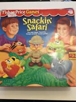Snackin Safari Fisher Price Game Retro 1994 Age 3-7 2 Levels Of Play