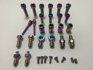 titanium bolts set for hope v4 e4 x2  tech 3 brakeset 28pcs UPDATE to 32pcs