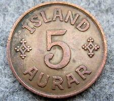 ICELAND CHRISTIAN X 1942 5 AURAR