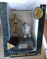 VINTAGE Star Wars C-3PO and R2-D2 Electronic Talking Bank Thinkway Toys 1995 MIB
