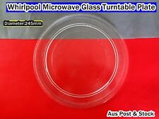 Whirlpool Microwave Oven Glass Turntable Plate Platter 245 mm  (W13) Brand New